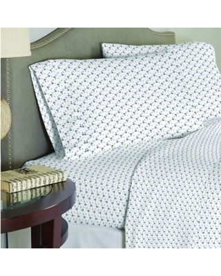 Lullaby Bedding Away At Sea 4-Piece Full Sheet Set in White/Blue