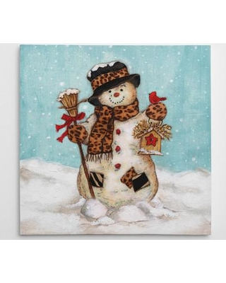 "The Holiday Aisle 'Snowman' Graphic art on Wrapped Canvas THLA3135 Size: 16"" H x 16"" W x 1.5"" D"