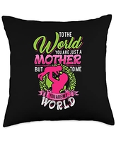 Funny Sayings And Mother's Day Designs World-Saying Mom-Mother's Day Throw Pillow, 18x18, Multicolor