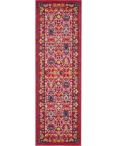 """Bungalow Rose Iris Pink Area Rug BNGL7405 Rug Size: Runner 2'7"""" x 10'"""