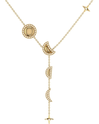 LMJ - Moon Stages Necklace In 14 Kt Yellow Gold Vermeil On Sterling Silver