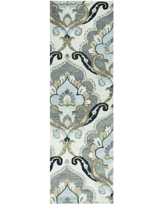 """Napoli Collection Floral Rug (Beige 2'6"""" x 8' Runner)"""