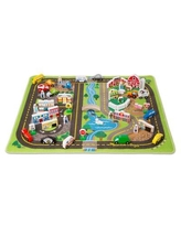 Melissa & Doug Deluxe Road Play Fabric Playmat 5195