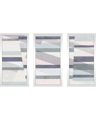 """George Oliver 'Pastel Reflections III' Acrylic Painting Print Multi-Piece Image on Glass GOLV3259 Size: 33.5"""" H x 52.5"""" W"""