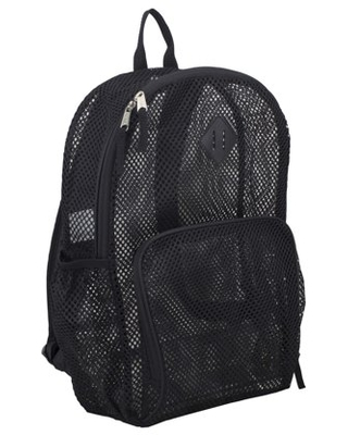 Eastsport Multi-Purpose Mesh Backpack with Front Pocket, Adjustable Straps and Lash Tab