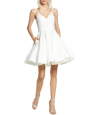 Women's Ieena For MAC Duggal Fit & Flare Cocktail Dress, Size 8 - White