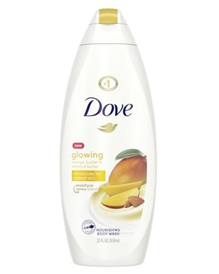 Dove Glowing Body Wash Mango Butter and Almond Butter 22 oz