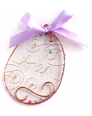 Large Easter Basket Tag, Personalized Easter Egg Ornament, Easter decorations, Name Tag, Easter Farmhouse Decor for the Home, Baby's First Easter, Easter basket filler or stuffer