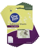 Glue Dots Repositionable Double-Sided Adhesive Sheets for Vellum Paper, Clear, Pack of 60 (08180-AMZ)