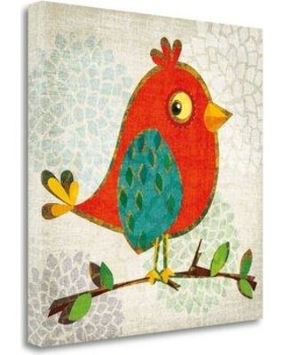 """Tangletown Fine Art 'Chirpier' Graphic Art Print on Wrapped Canvas CA318131-2020c Size: 25"""" H x 25"""" W"""