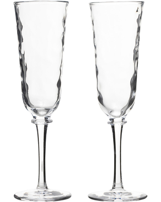 Carine Champagne Toasting Flutes, Set of Two