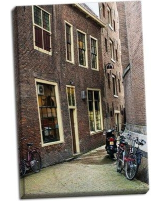 Ebern Designs 'Old Centre Amsterdam' Photographic Print on Wrapped Canvas BI046343