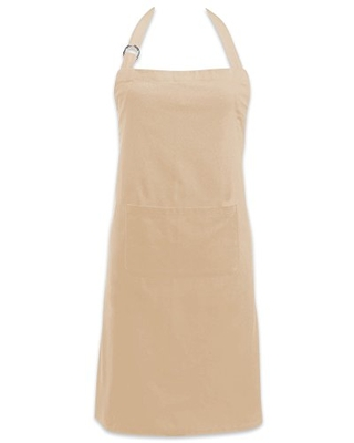 DII Adjustable Neck & Waist Ties with Front Pocket, 32x28 Apron Chino Chef Collection, Pebble