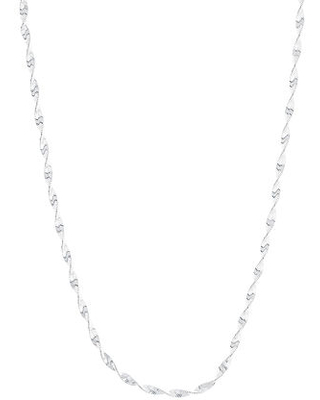 Made In Italy Silver Treasures Sterling Silver 18 Inch Twist Chain Necklace, One Size