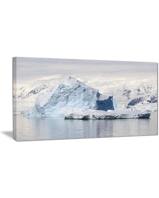 """'Antarctica Mountains' Graphic Art Print on Canvas East Urban Home Size: 40 """" W x 20 """" H"""