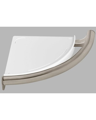 Delta BathSafety Contemporary Corner Shelf with Assist Bar in Stainless