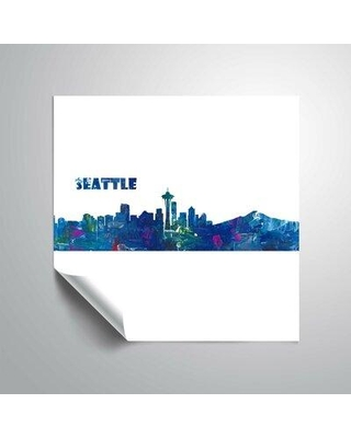 """East Urban Home 'Seattle Skyline Scissor Q Foreground' Graphic Art Print on Wrapped Canvas BI044362 Format: Paper Size: 36"""" H x 36"""" W"""