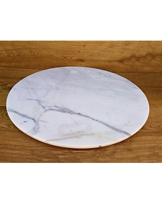 Marble Lazy Susan Turntable Rotating Tray Dining Table Centerpiece Serving  Plate Large   22 Inch