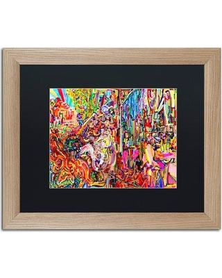 """Trademark Art 'Awe Rides a Burning Steed' Framed Graphic Art Print ALI5576-T1 Matte Color: Black Size: 16"""" H x 20"""" W x 0.5"""" D"""
