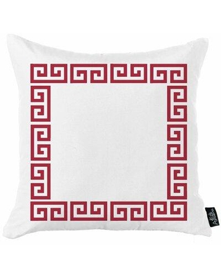 """Wrought Studio Abberville Throw Pillow Cover W002480364 Color: Red/White Size: 18"""" x 18"""""""