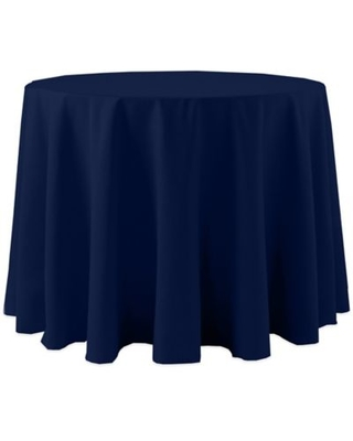 Spun Polyester 120-Inch Round Tablecloth in Navy