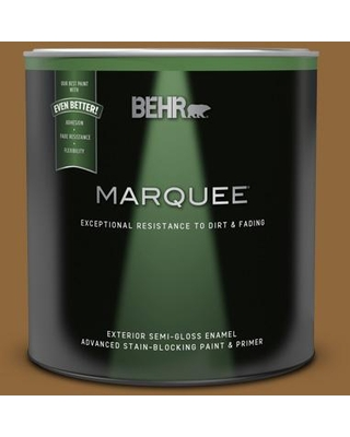 BEHR MARQUEE 1 qt. #300D-7 Spanish Leather Semi-Gloss Enamel Exterior Paint & Primer