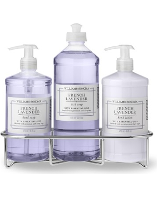 Williams Sonoma French Lavender Hand Soap & Lotion, Classic 4-Piece Set