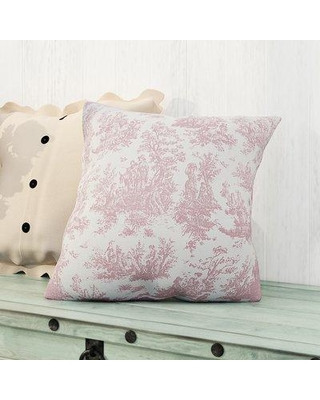 """One Allium Way Leflore 100% Cotton Throw Pillow OAWY2749 Color: Baby Pink Size: 18"""" H x 18"""" W"""