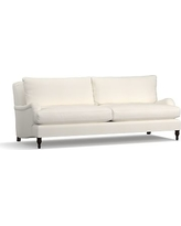 "Carlisle Upholstered Grand Sofa 90.5"", Polyester Wrapped Cushions, Denim Warm White"