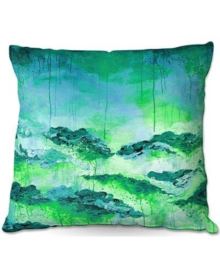 """East Urban Home Couch Rose Colored Life II Throw Pillow W001649483 Size: 20"""" x 20"""" Color: Green/Blue/Teal"""