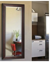"Darby Home Co Dexter Walnut Full Length Beveled Body Mirror DRBC3450 Size: 63"" H x 25"" W x 1"" D"