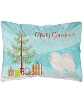 The Holiday Aisle Germania German Spitz Christmas Indoor/Outdoor Throw Pillow BF148692