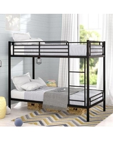 Isabelle & Max™ Aiesha Twin over Twin Bunk BedMetal in Black, Size 41.0 W x 77.5 D in   Wayfair VVRO6259 34162806