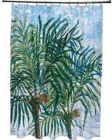 Bay Isle Home Kingbird Palms Floral Print Shower Curtain BAYI2120 Color: Light Blue