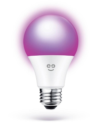 Geeni 60-Watt Equivalent Prisma Plus 800 A19 Dimmable and Tunable White LED Light Bulb Multicolor Wi-Fi Smart 2000-6500K