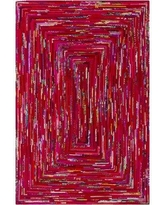 Ebern Designs Thao Hand-Woven Pink/Red Area Rug EBND1542 Rug Size: Rectangle 9' x 13'