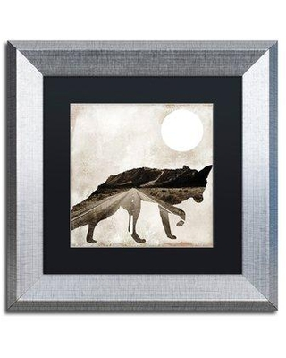 "Trademark Fine Art 'Going Wild II' by Color Bakery Framed Graphic Art ALI4908-S1 Size: 11"" H x 11"" W x 0.5"" D Matte Color: Black"