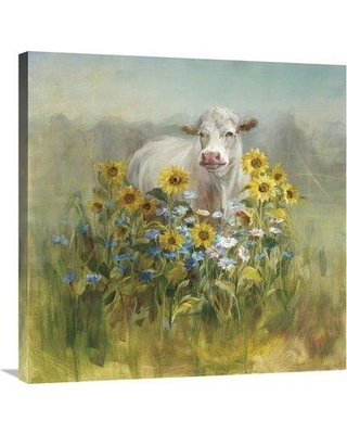 """East Urban Home 'Farm and Field II' Print ESUN1533 Size: 30"""" H x 30"""" W Format: Wrapped Canvas"""