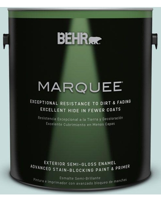 BEHR MARQUEE 1 gal. #S440-1 Sunken Pool Semi-Gloss Enamel Exterior Paint and Primer in One