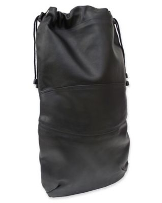 Piel® Leather 11-Inch Classic Drawstring Shoe Bag in Black