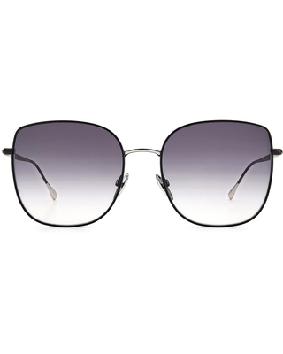 Women's Isabel Marant 58mm Gradient Square Sunglasses - Black Silver/ Grey Shaded
