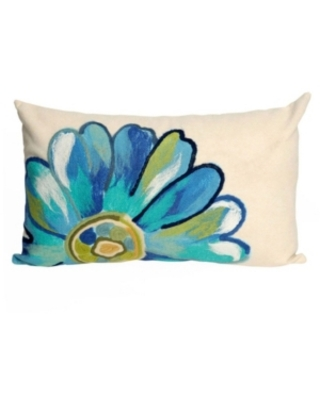 """Liora Manne Visions Iii Daisy Indoor, Outdoor Pillow - 20"""" x 12"""""""
