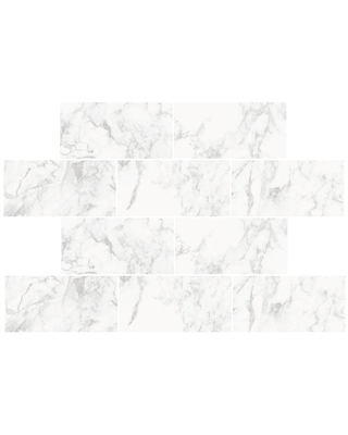 WallPOPs Marble Stone Wall Decal, White