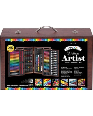 8db6065ba Spectacular Sales for Art 101 Deluxe Artist Set in Wood Case (215 Piece)