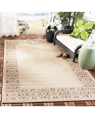 "Whitner Cream Indoor/Outdoor Area Rug Bay Isle Home Rug Size: Rectangle 5'3"" x 7'7"""