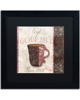"""Trademark Art 'Patisserie XII' by Color Bakery Framed Vintage Advertisement ALI4038-B1 Mat Color: Black Size: 16"""" H x 16"""" W x 0.5"""" D"""