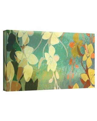 "ArtWall 'Shadow Florals' by Jan Weiss Graphic Art on Wrapped Canvas janw-020--w Size: 16"" H x 48"" W"