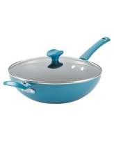 Rachael Ray™ Cityscapes Nonstick 11-Inch Covered Stir Fry Pan in Turquoise