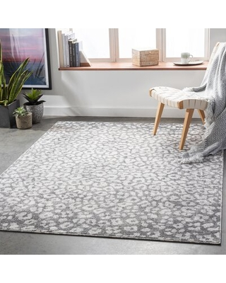 New Deal For Gaiwan Charcoal Gray Area Rug Bloomsbury Market Rug Size Rectangle 5 3 X 7 3