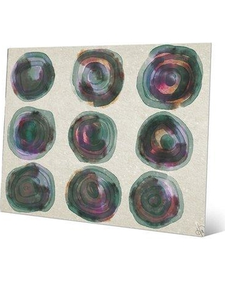"Click Wall Art Galaxy Gallery E Painting Print on Plaque CBS0002166MTL Size: 11"" H x 14"" W x 1"" D"